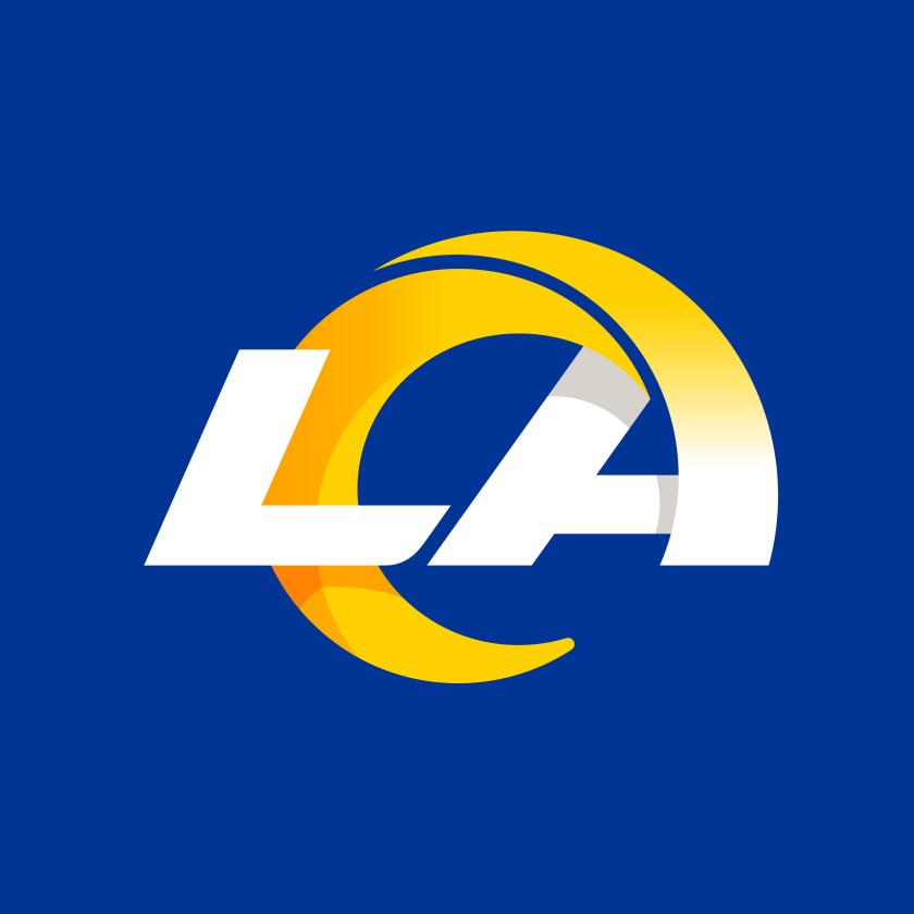 洛杉矶公羊橄榄球队logofun88乐天使备用fun88体育备用形象fun88乐天使备用,LA字母组合成公羊简约造型