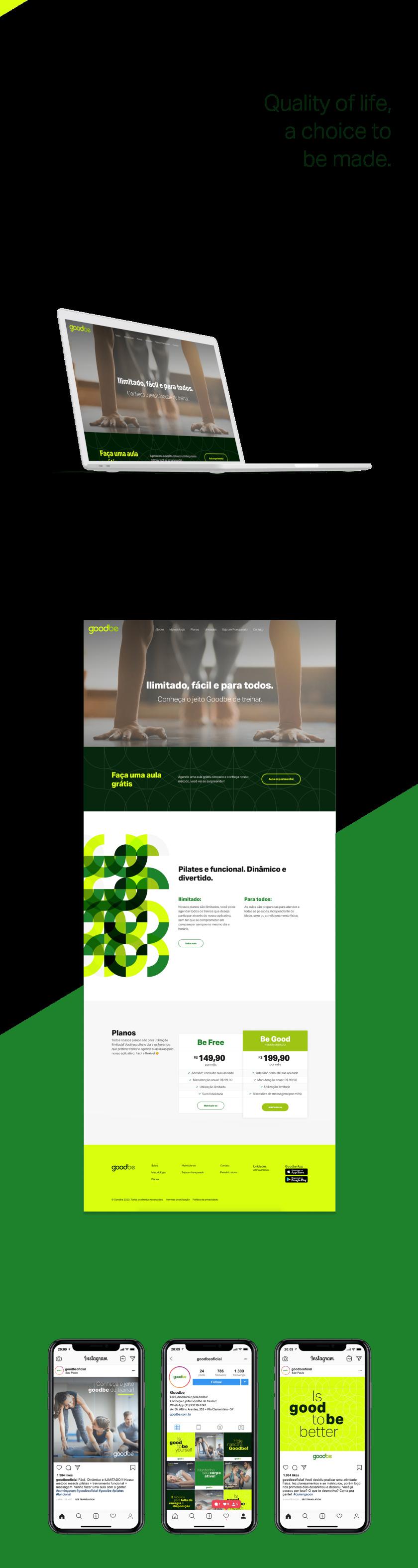 Goodbe健身中心品牌vi形象设计,一个积极活力和动态绿色的链接形象