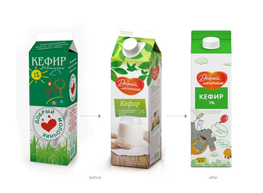 """好牛奶人乳制品牛奶包装设计,飞行野兽插画反应""""购买牛奶帮助孩子""""的公益初心"""