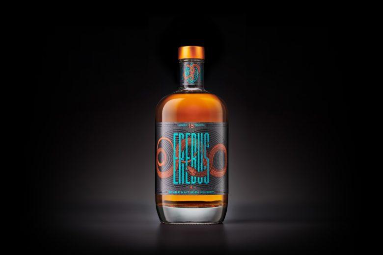 Erebus爱尔兰威士忌酒包装设计,暗色调神秘感的包装风格