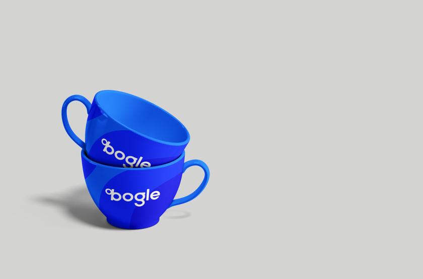 Bogle金融科技公司logo设计vi设计,首字母B改造成百分号%的形状