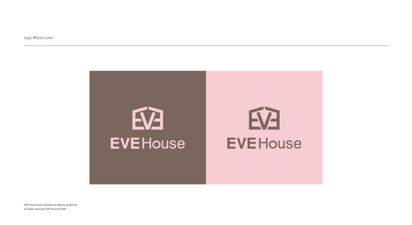 Eve House 家居用品品牌logo设计vi设计,追求设计感的女性粉色风格