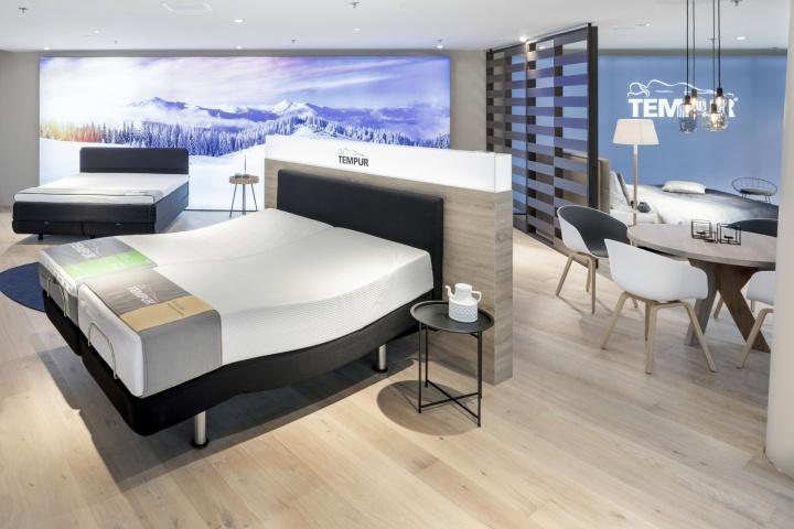 Tempur泰普尔床垫旗舰店店铺空间设计,新北欧酒店风格