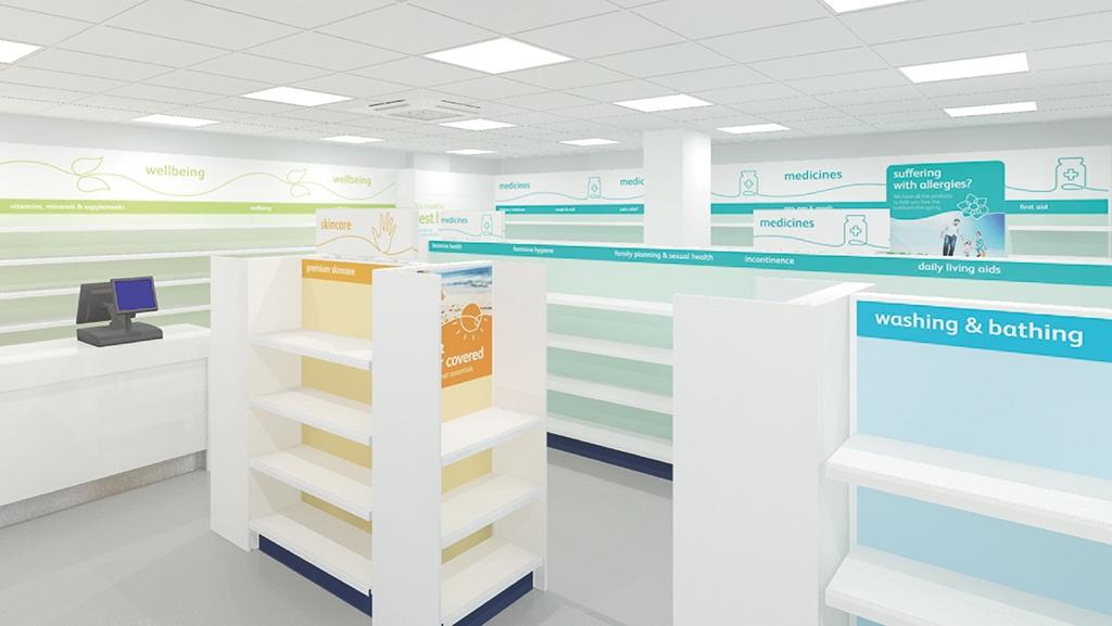 Sopharma 零售药店新品牌创建开发与全案策划设计-药房室内空间设计
