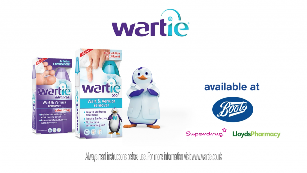 Wartie治疗儿童疣皮肤病药品TVC广告策划与企鹅科学家吉祥物设计