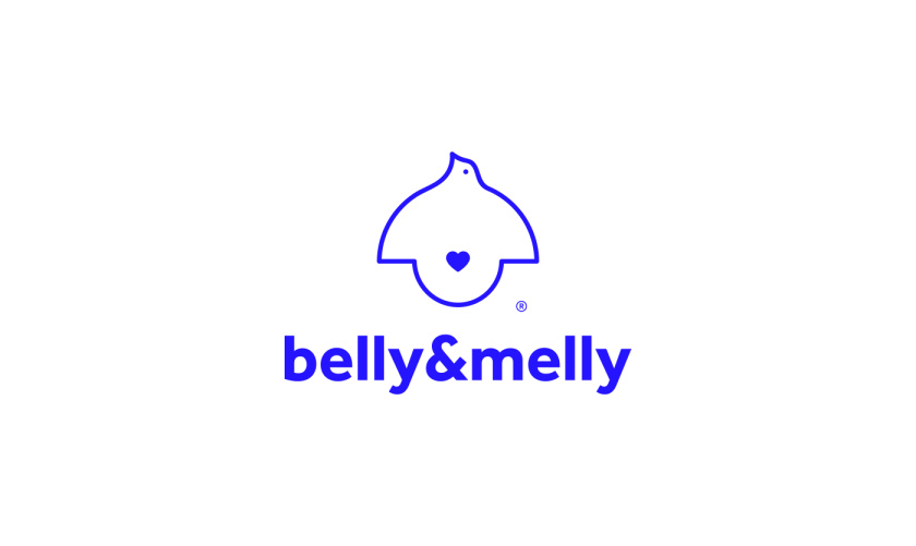 belly&melly 母婴用品品牌logo设计vi设计,小鸟+灯泡+心形