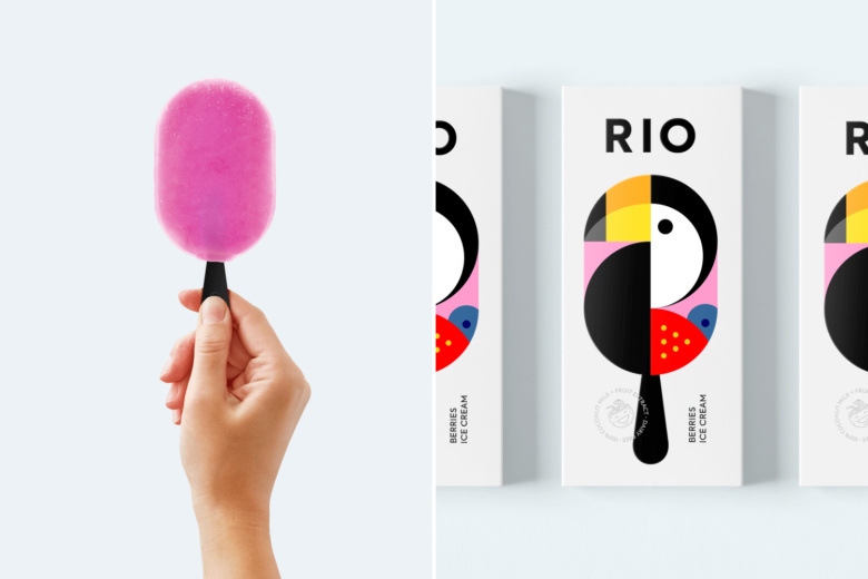 """RIO冰淇淋棒冰冷饮包装设计""""巨嘴鸟插画设计""""款"""