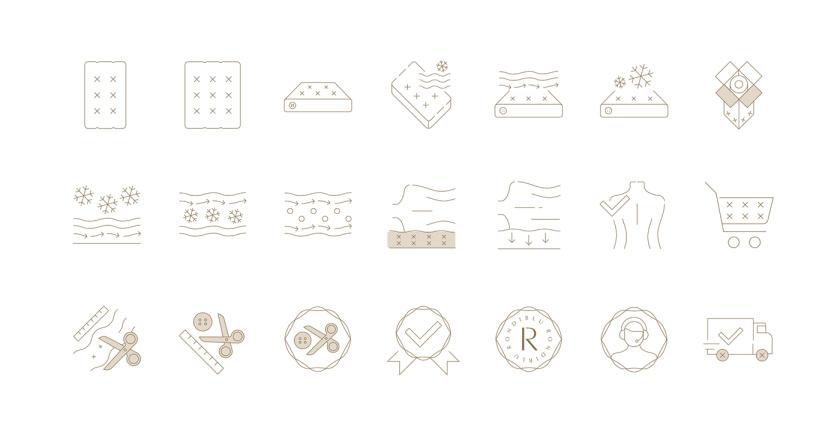RONDIBLU 床垫睡眠产品品牌形象vi设计-icon图标设计