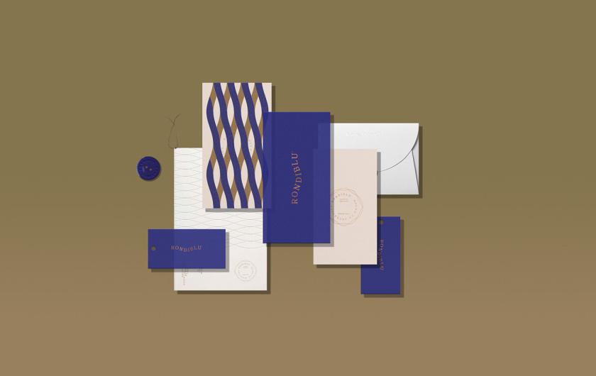 RONDIBLU 床垫睡眠产品品牌形象vi设计,交织的纺织与床垫波浪曲线