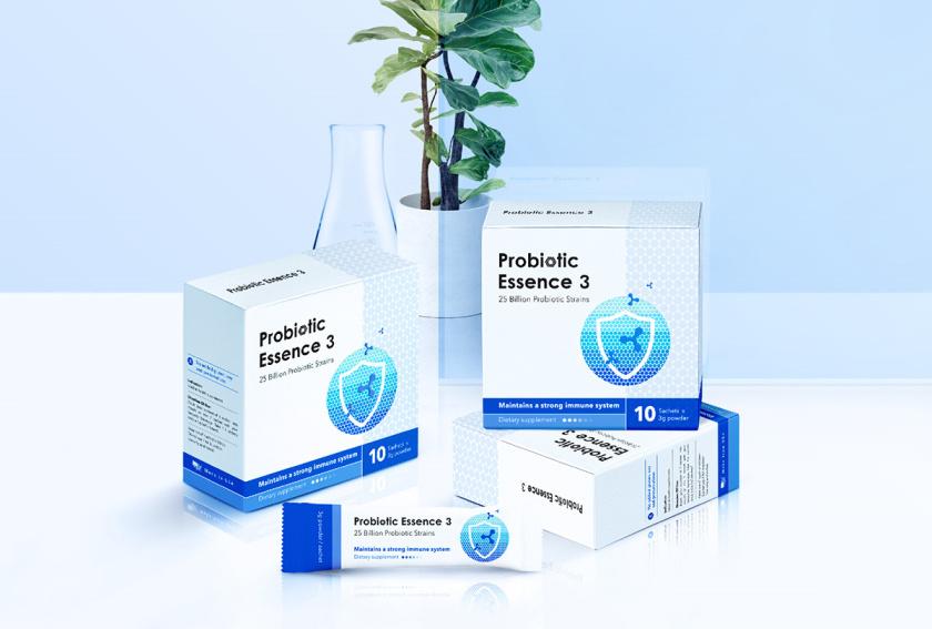 "Probiotic 益生菌膳食补充剂保健品包装设计""现代科技""风"