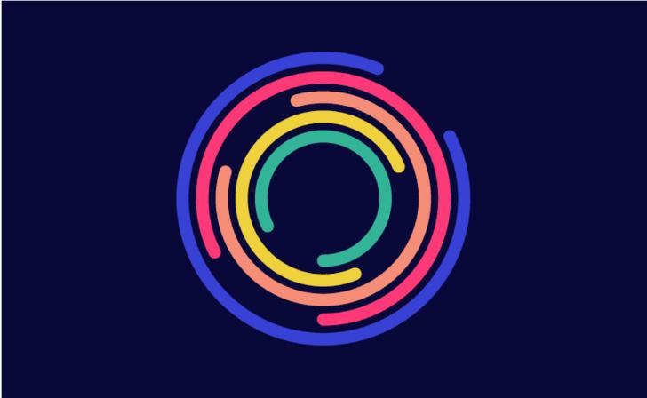 EO企业家组织协会机构logo设计与品牌视觉形象vi设计,动态风格多层圆形线条