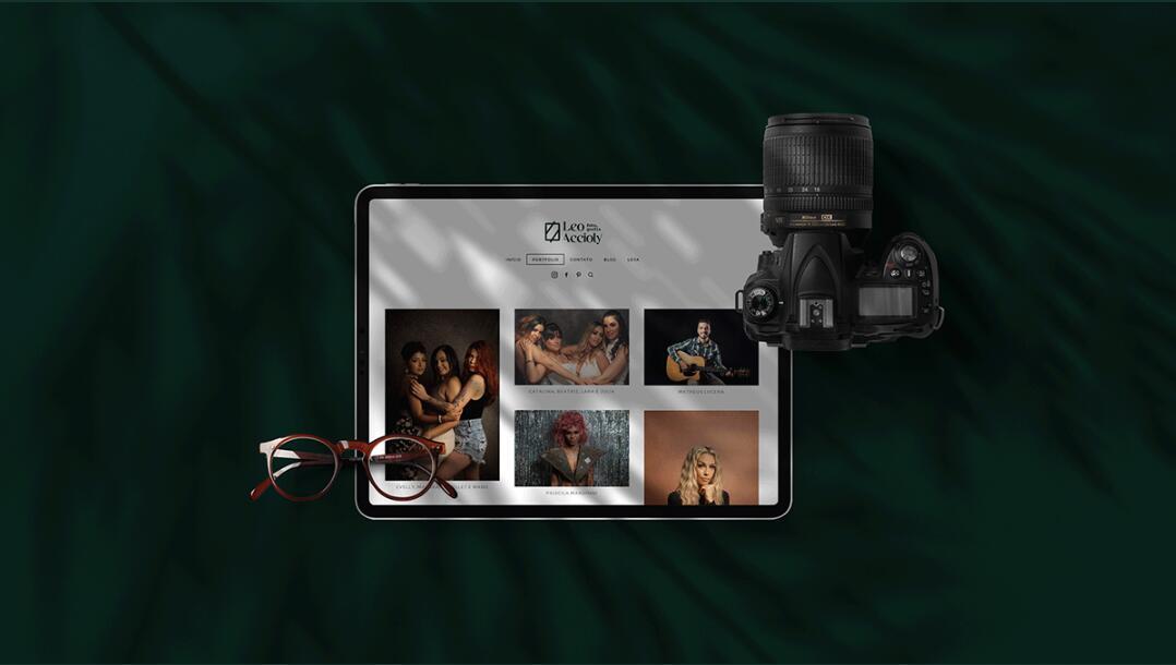 Leo Accioly 高质量摄影公司品牌识别设计