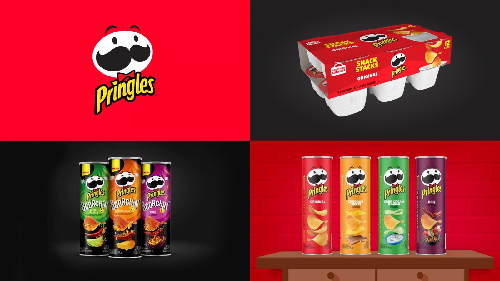 """""""快乐的天真者"""":品客薯片薯条品牌logo-vi-吉祥物-包装视觉设计"""