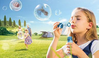 正大通用药业快速止痒皮肤用药平面海报创意广告吹泡泡篇-上海广告设计公司