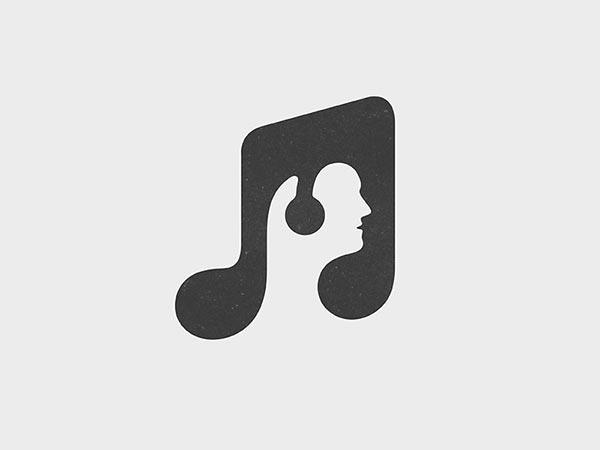 2.音乐负空间会标logo设计