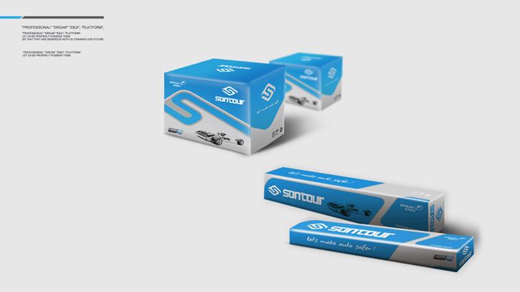 3suntour昌途底盘件汽车配件包装设计,标志设计