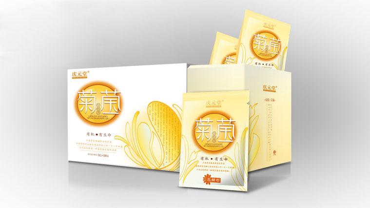 12庆元堂菊花茶茶叶包装设计-上海品牌包装设计公司