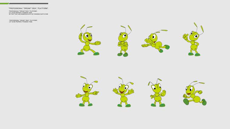 """爱德林汽车养护品品牌""""小蚂蚁""""卡通logo设计vi设计"""