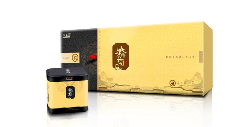 庆元堂菊花茶茶叶包装设计-上海包装设计公司