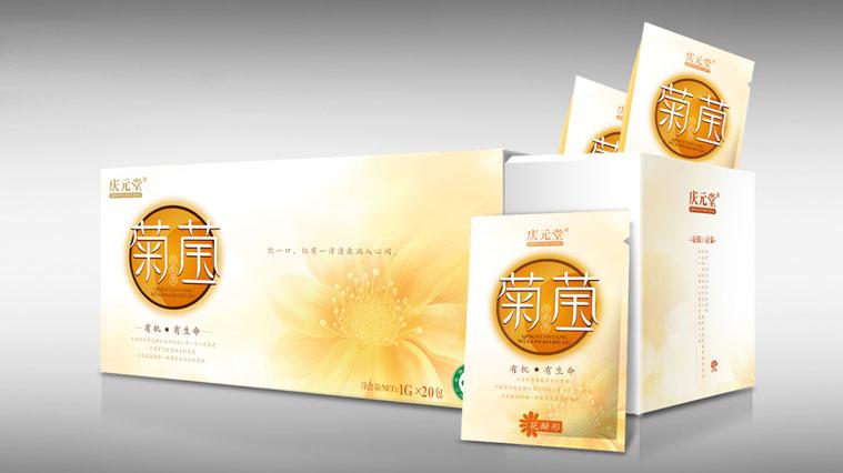 6庆元堂菊花茶茶叶包装设计-上海品牌包装设计公司