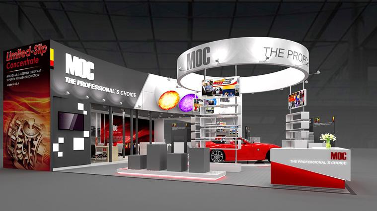 美国MOC汽车养护品展会展台设计