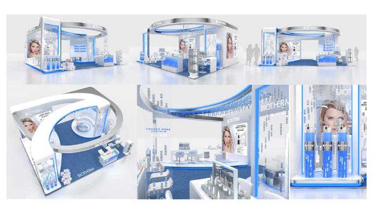 碧欧泉化妆品连锁专卖店设计及展示设计2