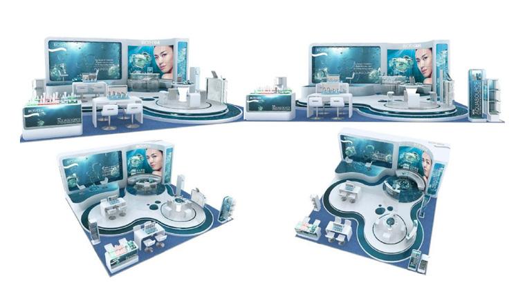 碧欧泉化妆品连锁专卖店设计及展示设计