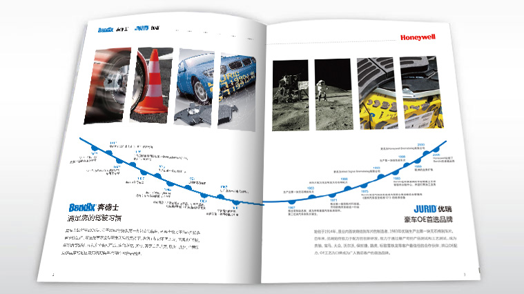 Honeywell霍尼韦尔汽配/刹车片品牌与产品宣传画册策划设计--上海画册设计公司