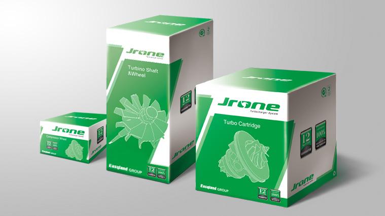 3JRONE劲朗涡轮增压器汽配包装设计