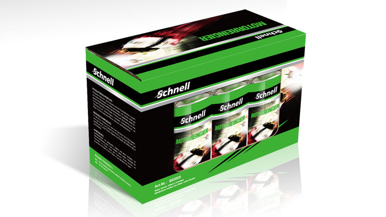 上海包装设计公司创造品牌识别性——尚略广告德国施耐尔Schnell汽车养护品包装设计