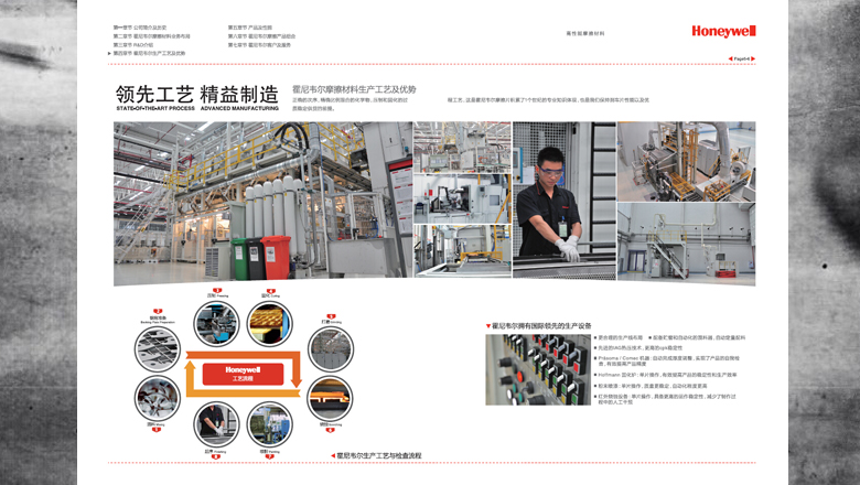Honeywell霍尼韦尔摩擦材料汽车整车配套业务宣传画册设计