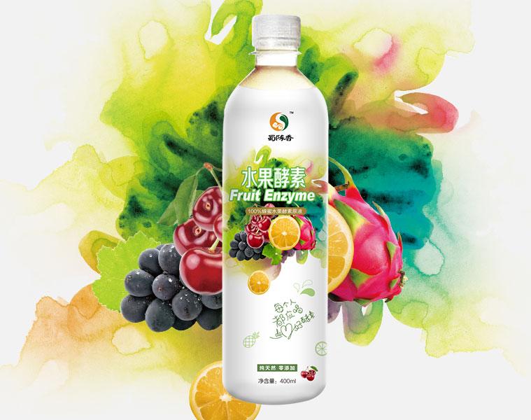 蜀陈香水果酵素保健饮品包装设计-尚略上海包装设计公司设计作品
