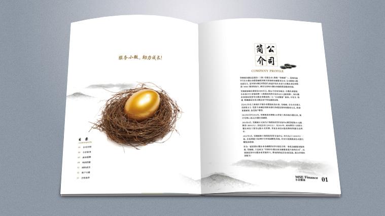 实则硬小微企业金融服务企业宣传画册设计-上海宣传册设计公司2