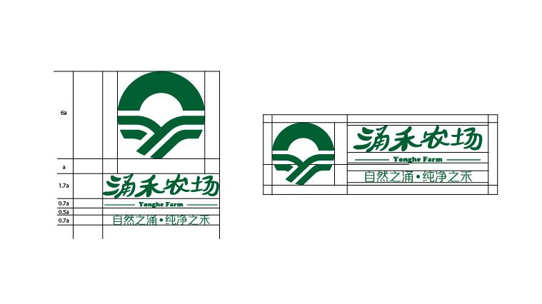 涌禾农场农业农产品品牌商标LOGO设计5-标志坐标制图设计