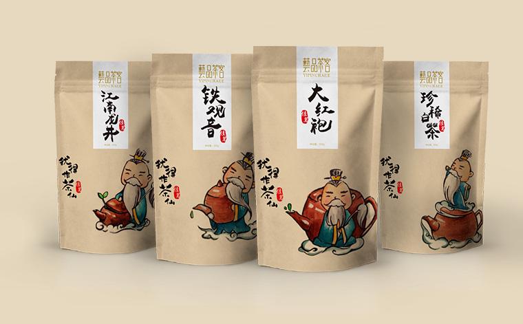 艺品茶客茶仙版茶叶包装设计-上海茶叶包装设计公司