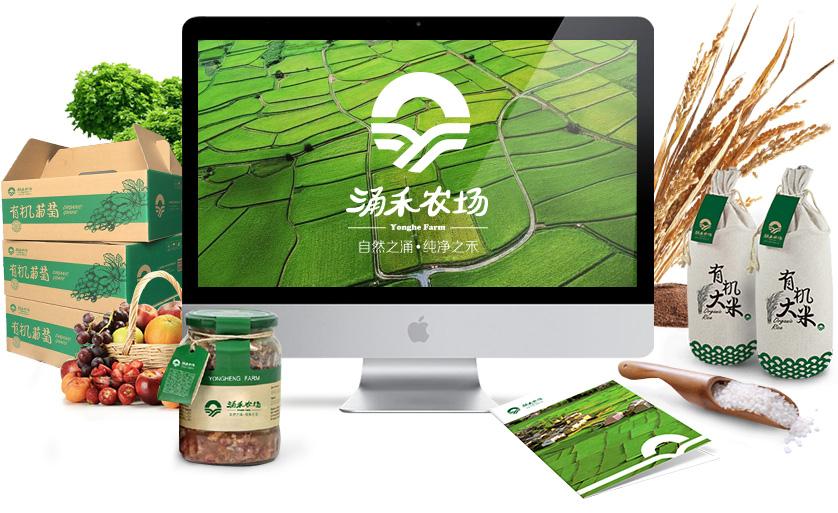 """涌禾农场""""自然之涌,纯净之禾""""企业形象全案策划设计-上海品牌全案策划设计公司"""