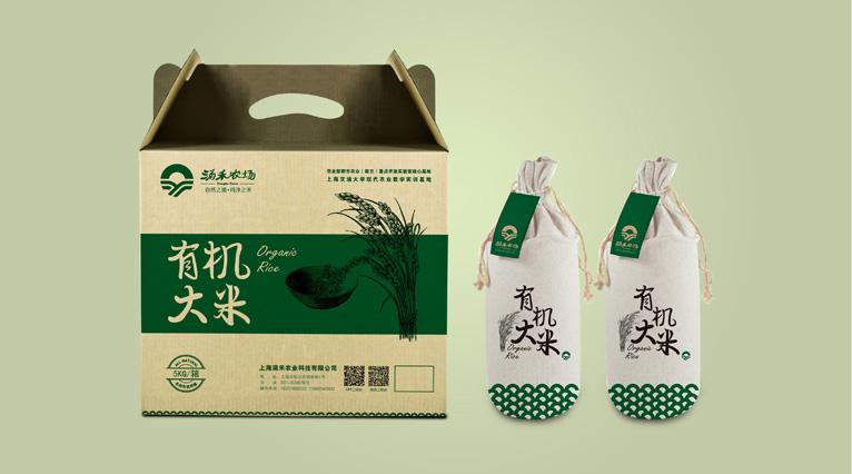 涌禾农场大米农产品包装设计-上海农产品品牌策划设计包装设计公司