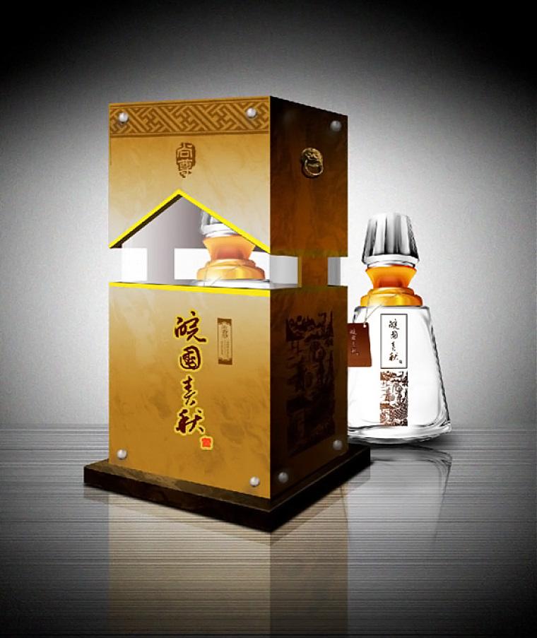 安徽皖酒皖国春秋白酒礼盒包装设计-上海包装设计公司尚略包装作品