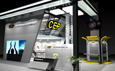 CEP工程机械配件展会展台设计