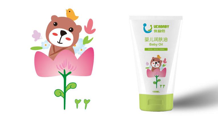 UEABABY优益倍婴儿护肤品包装设计-上海婴童包装设计公司10