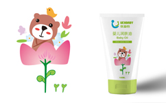 优益倍婴儿护肤品包装设计与套装礼盒包装设计