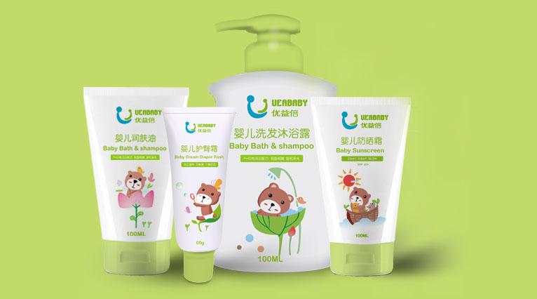 母婴婴童护理品牌logo设计|优益倍婴儿护肤品牌设计案例