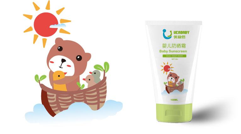 UEABABY优益倍婴儿护肤品包装设计-上海婴童包装设计公司9
