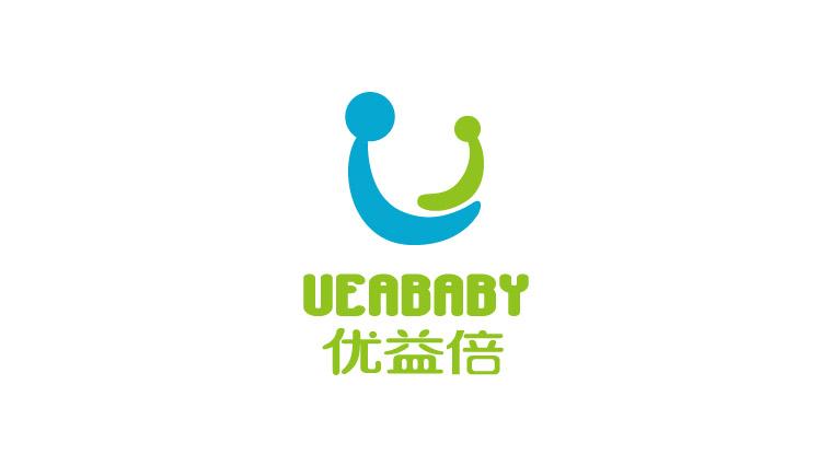 UEABABY优益倍婴儿护肤品品牌命名、logo设计-上海婴童logo设计公司2