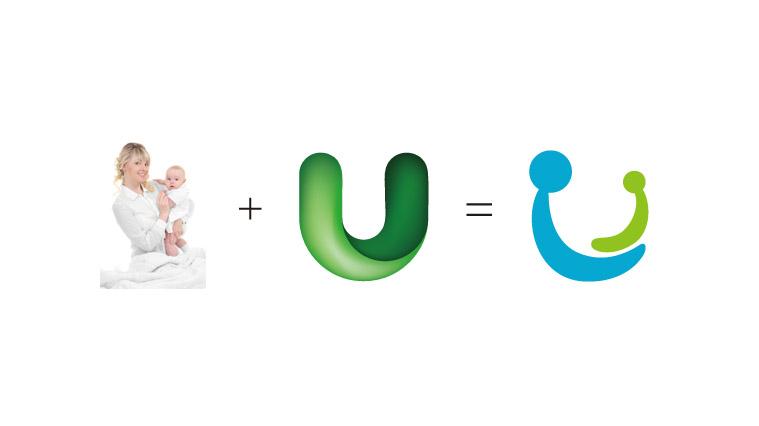 UEABABY优益倍婴儿护肤品品牌命名、logo设计-上海婴童logo设计公司3