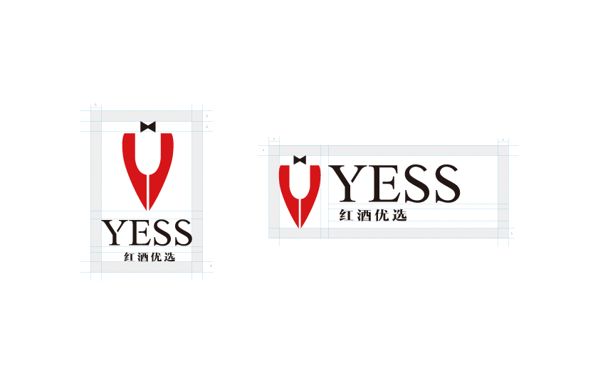 YESS红酒优选商标LOGO设计