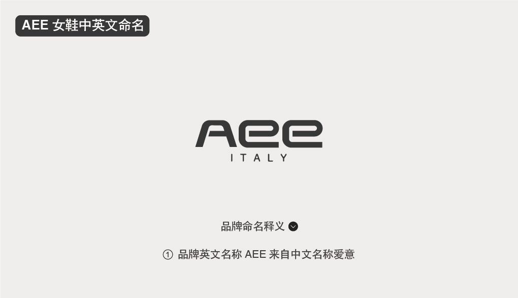 AEE 爱意女鞋品牌商标命名中英文命名