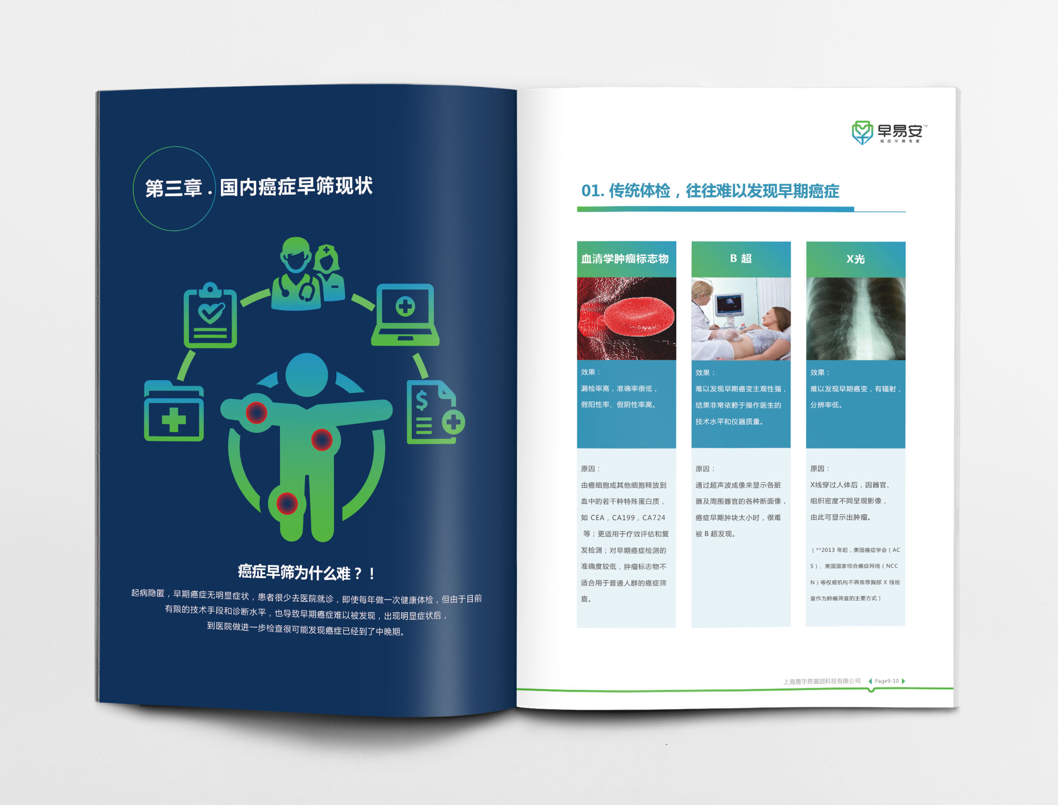 早易安癌症早筛检测项目宣传手册设计