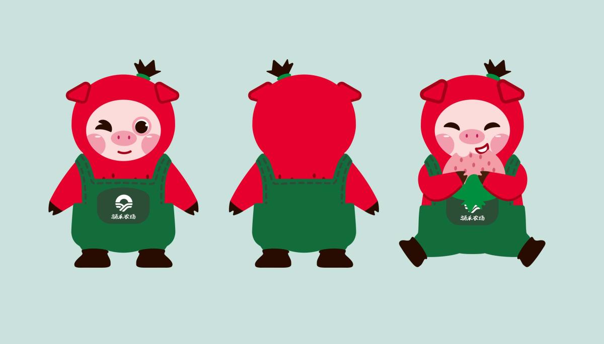 """涌禾农场有机草莓万博安卓版全案万博手机APP万博网页版手机登录""""草莓猪""""IP吉祥物万博网页版手机登录"""