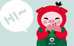 """涌禾农场有机草莓品牌全案策划设计""""草莓猪""""IP吉祥物设计"""